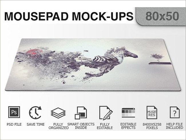mouse pad mockeup psd 11