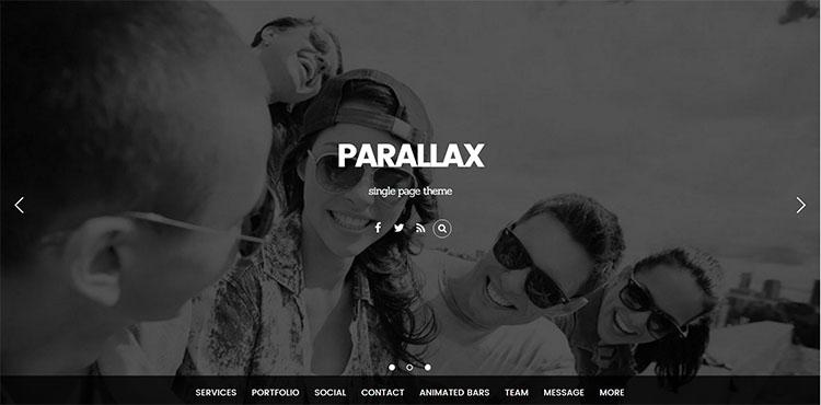 parallax scrolling wordpress Templates Free