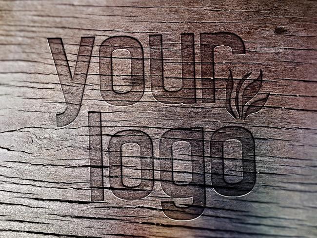 wood logo mockups 15