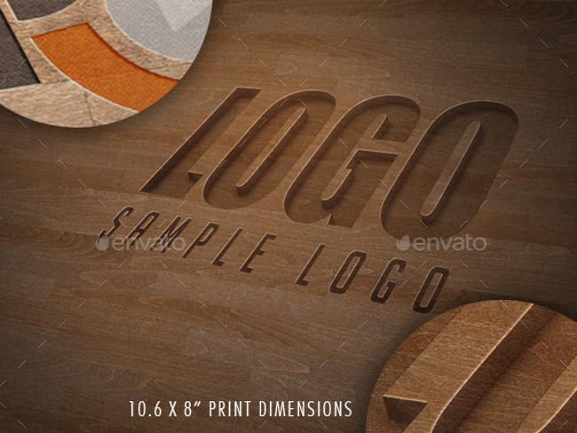 wood logo mockups 16