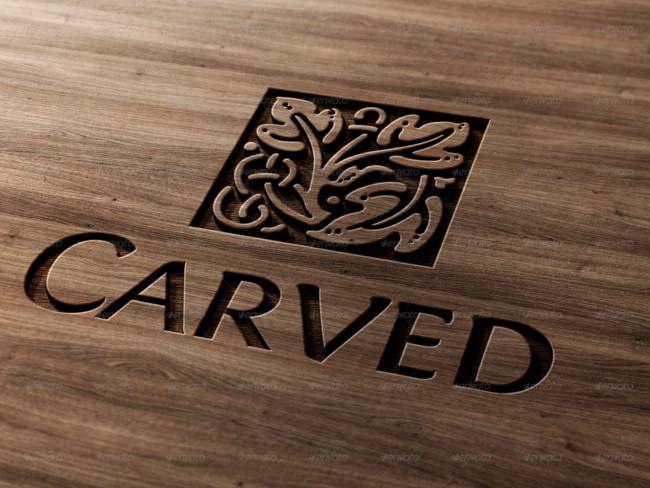 Woods Lumber Logo ~ Wood logo mockups free psd templates download