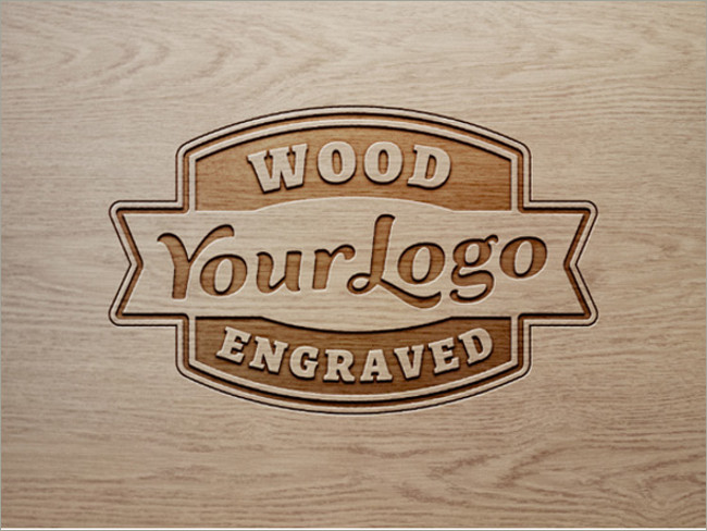 Woods Lumber Logo ~ Wood logo mockups free psd templates download