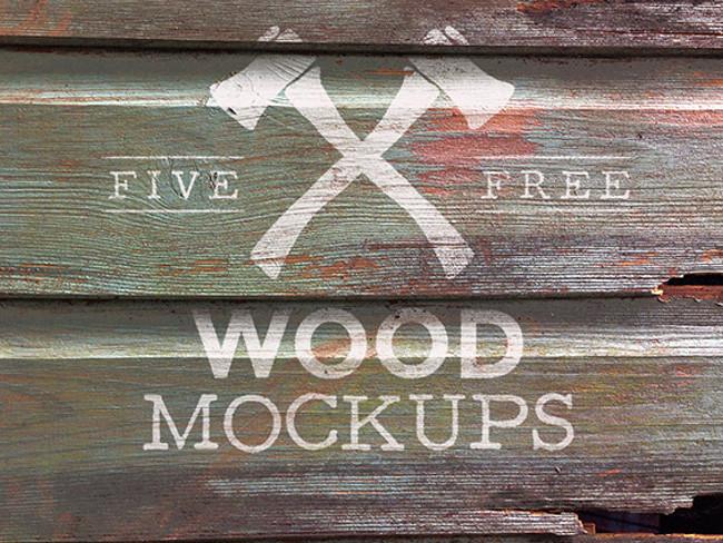 wood logo mockups 40