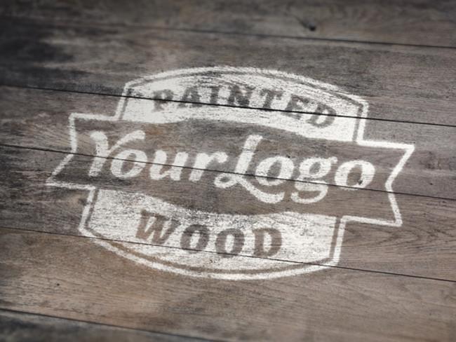 wood logo mockups 45