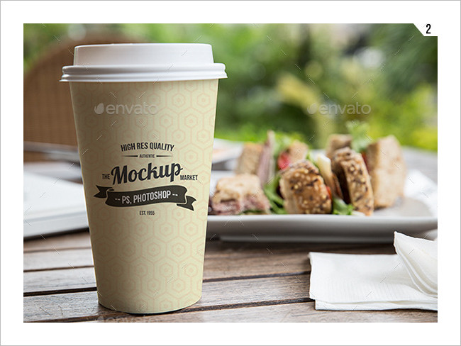 10 Coffee Cup Sketchbook Mockup PSD