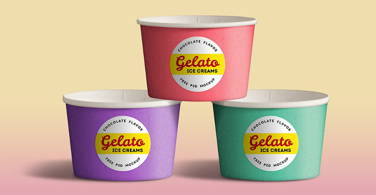Ice Cream Cup Mockups