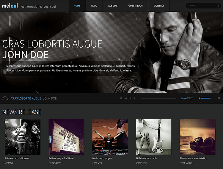 15+ Music Blog Themes