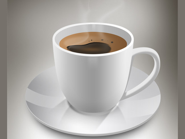 2 coffee cups and a saucer