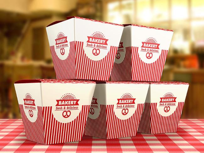 3 Customizable Food Box Mock-up Template