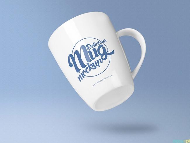 5 Free Awesome Coffee Mug Mockup PSD