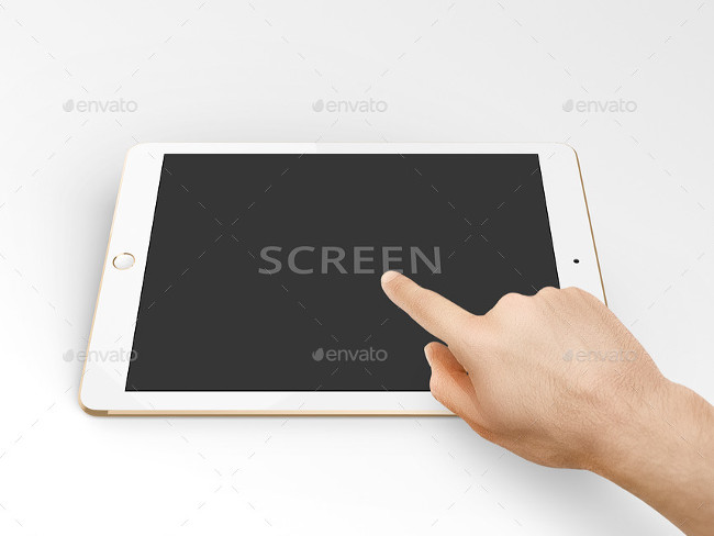 7 HQ PSD Tablet Mockup Template