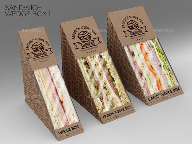 8 Fast Food Packaging Boxes PSD Mock Up