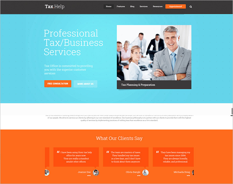 Accountants WordPress Themes Free & Premium