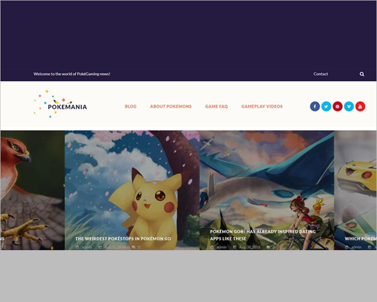 Animal game Bootstrap templae