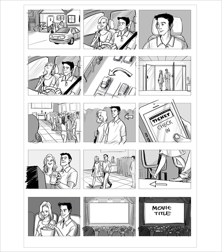 70 storyboard templates free word pdf ppt documents for Interactive storyboard template