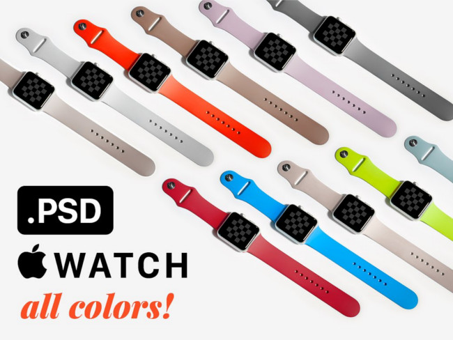 Apple Watch PSD Mockup