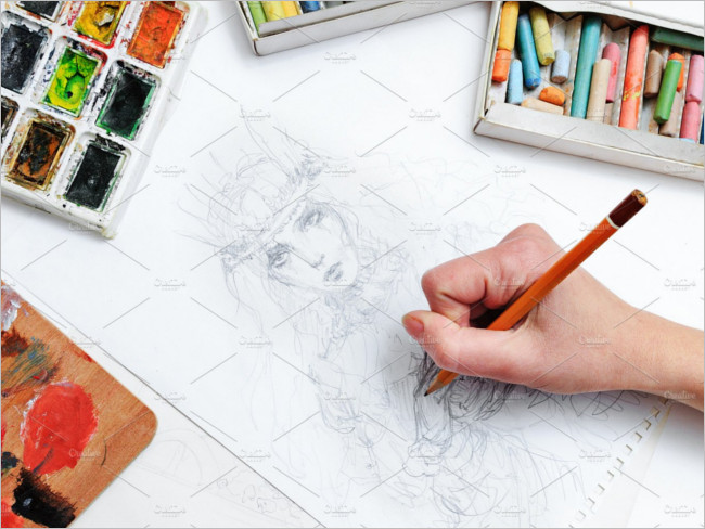 Artist Creative sketch Image