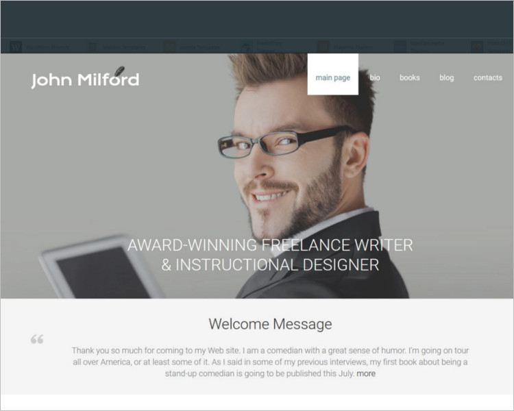 Author Bootstrap Template