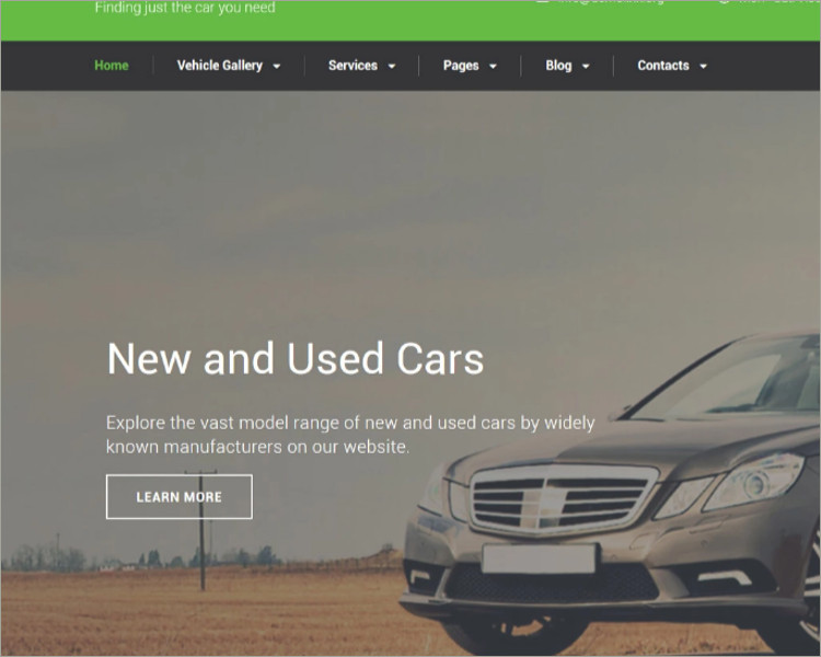 AutoTrader Website Template