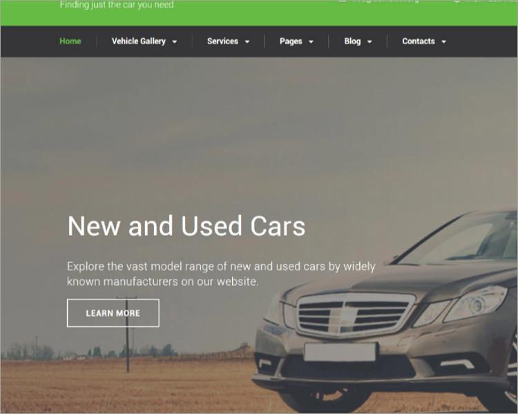 AutoTrader Website Template