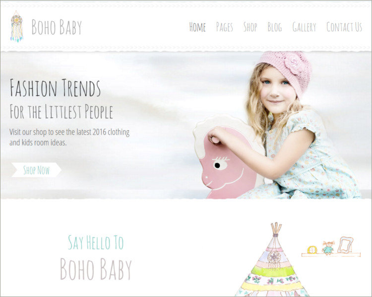Baby Shop word press theme