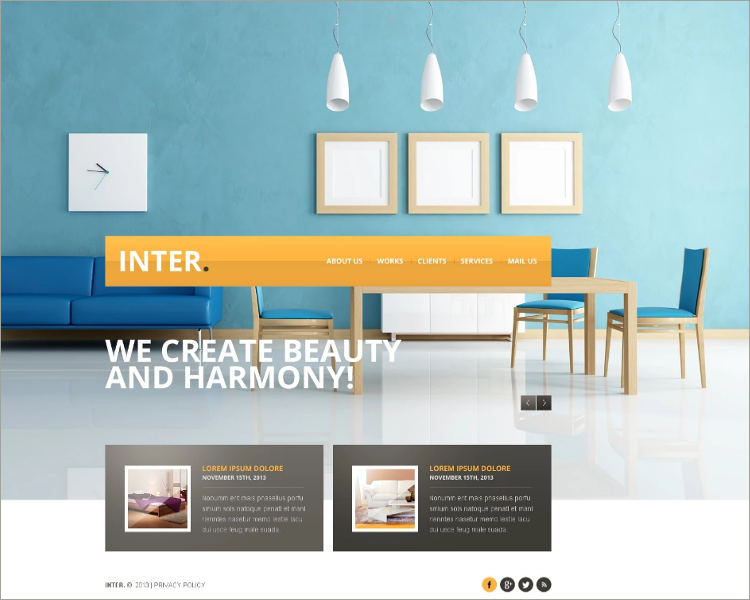 Beautiful Interior Design Website Template