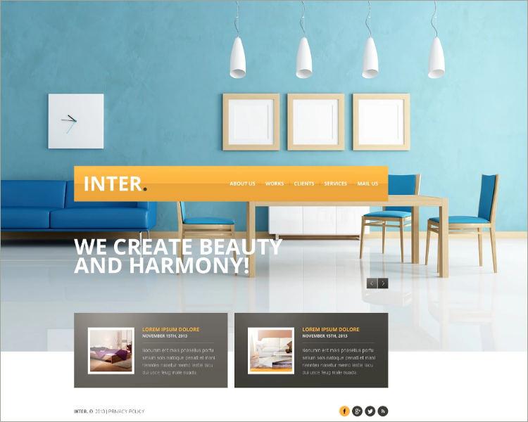 Beautiful Interior Design Website Template