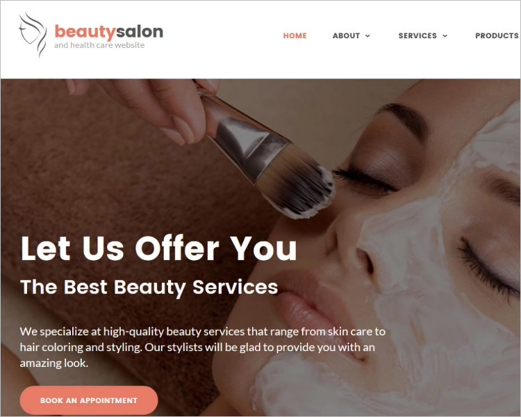 Beauty Salon Bootstrap WEbsite Template