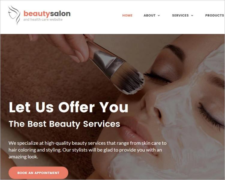 Beauty Salon Bootstrap WEbsite Template