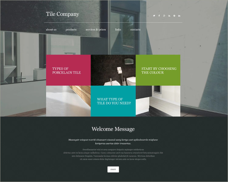 Interior Design Website Themes Templates Free