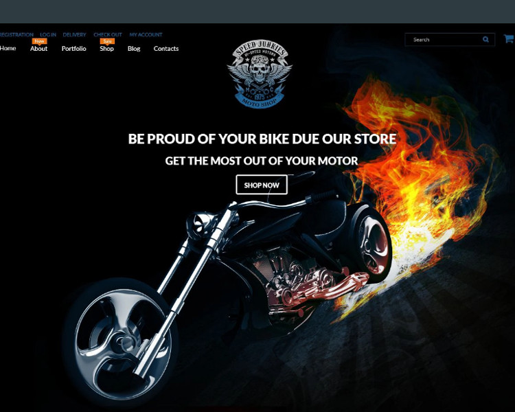 Bike Shop wordPress Templates
