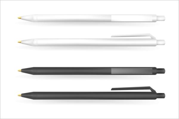 Black and White Pen Mockup