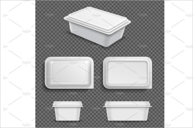 Blank Food Box Mockup Design