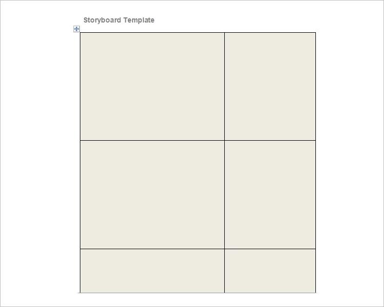 Blank Storyboard Sample