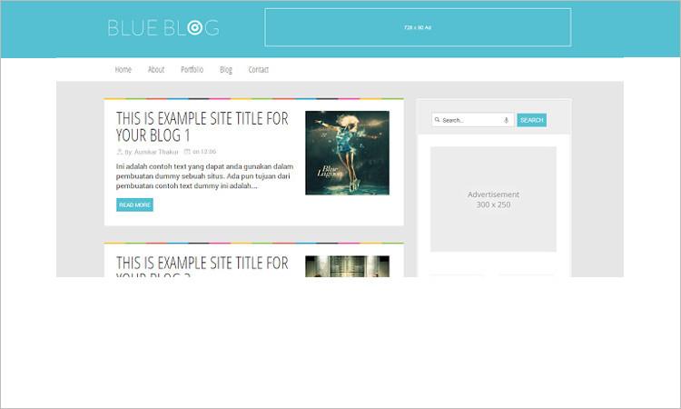Blue Blog Blogger Template