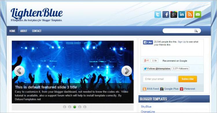 Blue Eyed Blogger Templates