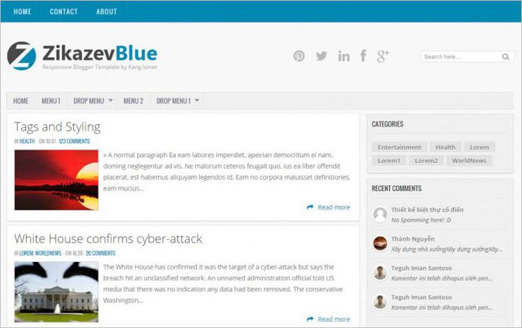 Blue Floyd Blogger Templates