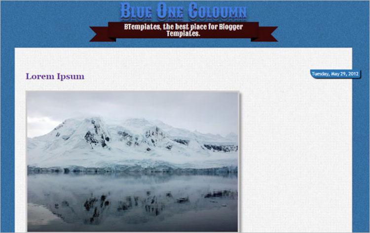 Blue Haze Blogger Templates