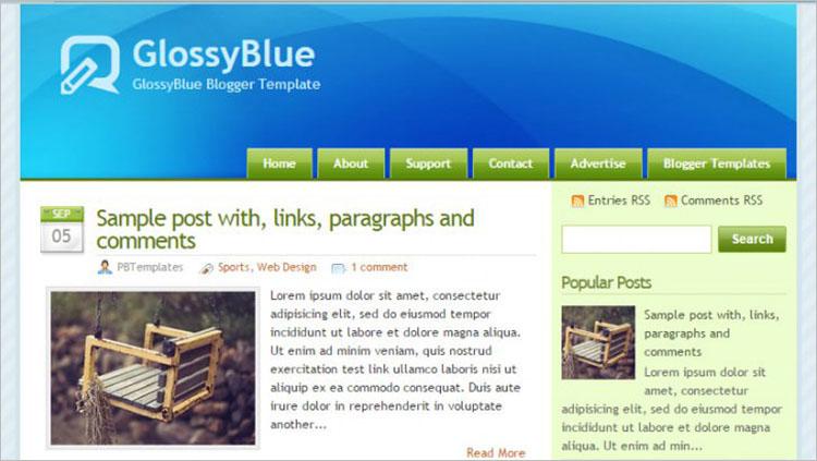 Blue Jays Blogger Templates
