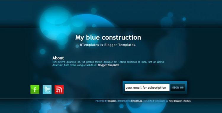 Blue Klein Blogger Templates