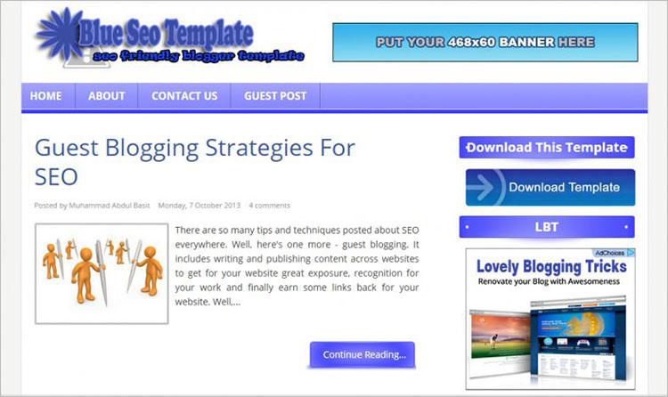 Blue Lantern Blogger Templates