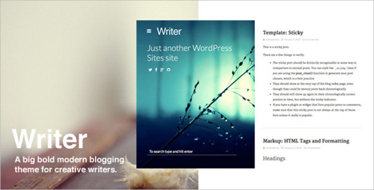 10+ Author Blogger Templates Free & Premium Themes