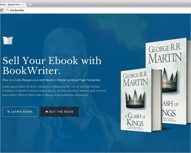 BookWriter Bootstrap Template