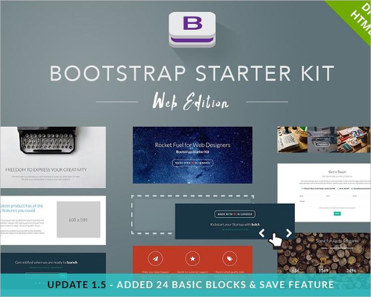 Bootstrap Starter Website Template