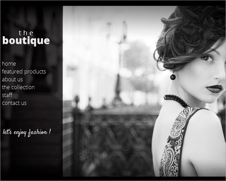 Boutique One Page Muse Theme