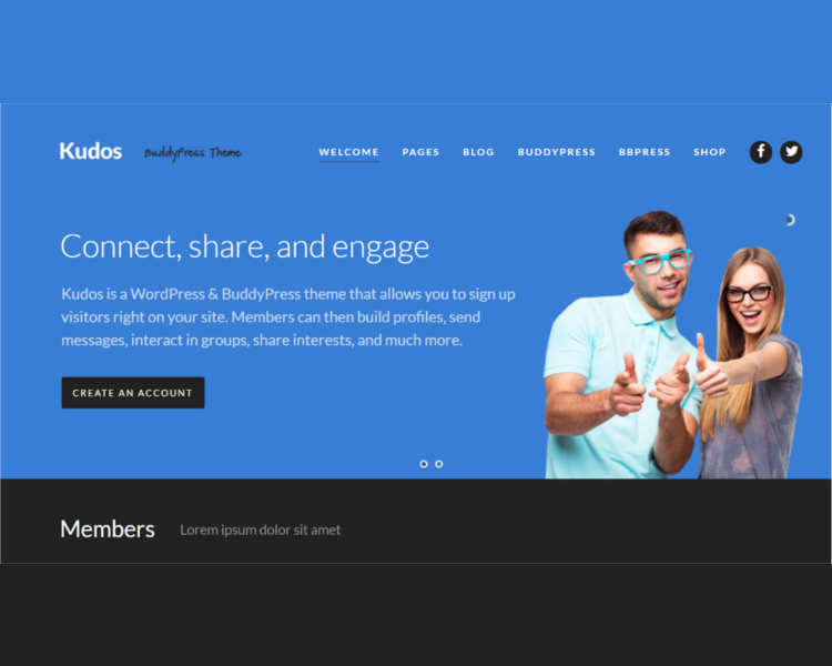 BuddyPress Business WordPress Template
