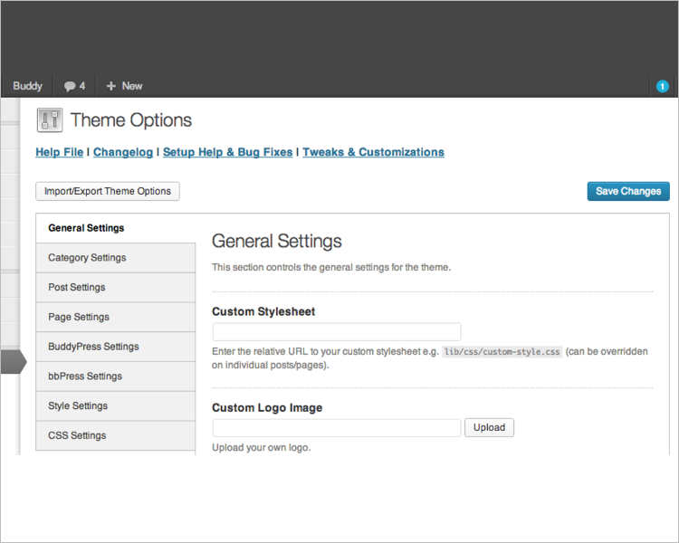 BuddyPress printable wordpress template