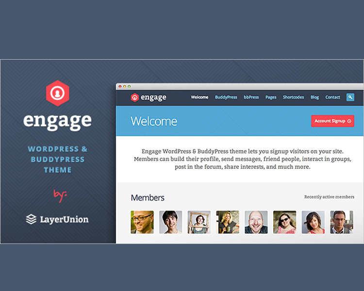 Buddypress WordPress Multisite Template