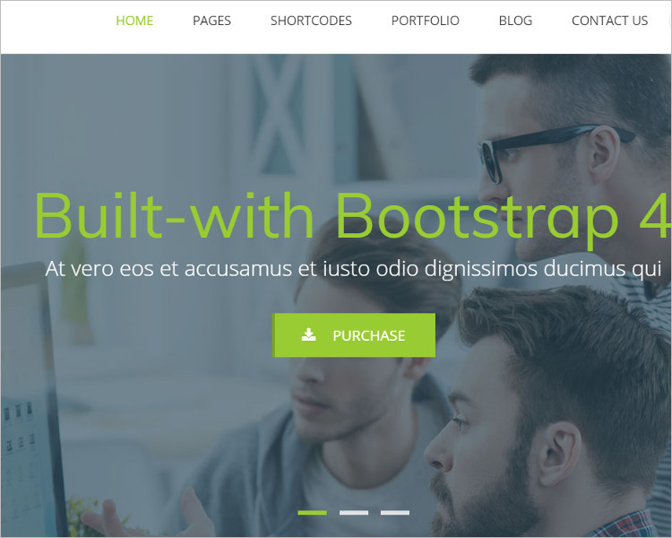 Built Bootstrap HTML Template