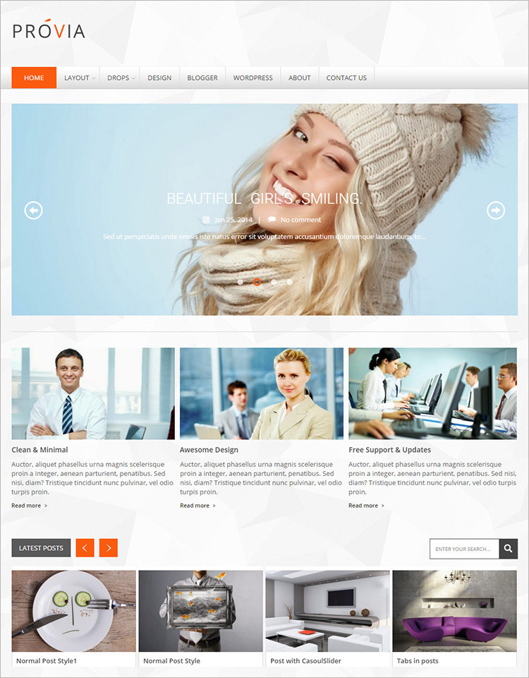 Business Blog Templates 2015